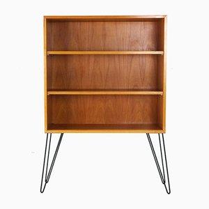 Bücherregal aus Eschenholz mit Hairpin-Füßen, 1950er