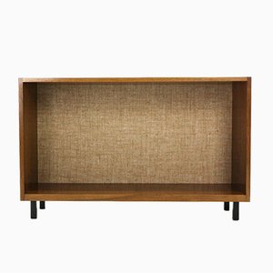 Walnut Cabinet with Jute-Based Back Wall, 1960s