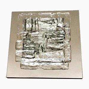 Lámpara de pared o techo de cristal de hielo de J. T. Kalmar para Kalmar Franken KG, años 60