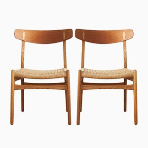 CH23 Dining Chairs by Hans J. Wegner for Carl Hansen & Søn, 1960s, Set of 2