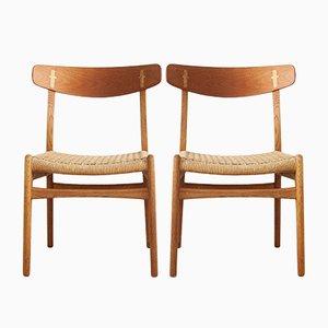 CH23 Esszimmerstühle von Hans J. Wegner für Carl Hansen & Søn, 1960er, 2er Set