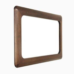 Specchio Mid-Century in legno, anni '70