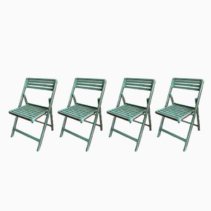 Vintage Garden Chairs, 1950s, Set of 4