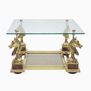 Neoclassic End Table in Brass from Maison Charles, 1970s