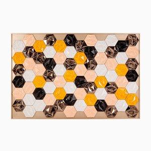 Panneau en Mosaïque Prisma Honey par Mambo Unlimited Ideas