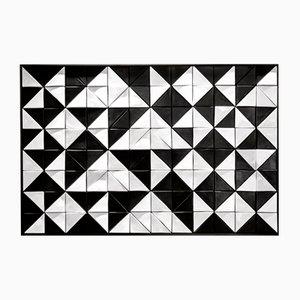 Plateau en Mosaïque Tejo Noir et Blanc par Mambo Unlimited Ideas
