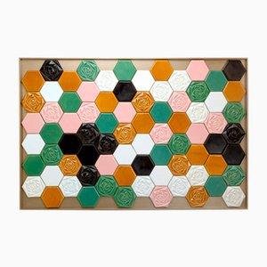 Panel mural Floral Bloom de azulejos de Mambo Unlimited Ideas