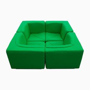 Modular Sofas, 1970s, Set of 4