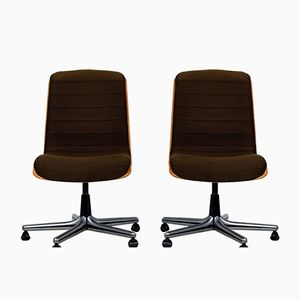 Vintage Swivel Chairs from Stoll Giroflex, Set of 2