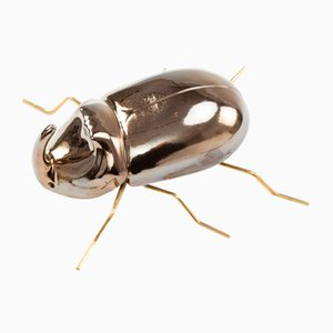 Rhinoceros Beetle Sculpture in Gold by Mambo Unlimited Ideas