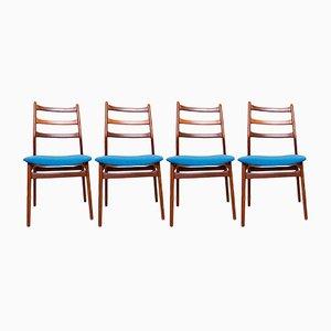 Deutsche Stühle aus Nussholz von Casala, 1960er, 4er Set