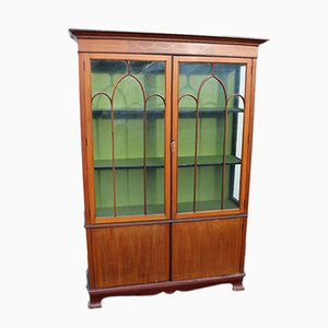 Mahogany 2-Door China Cabinet, 1920s