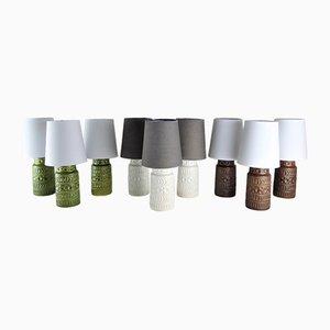 Tischlampen von Mans Bodo für Bay-Keramik, 1960er, 9er Set
