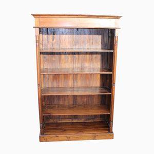 Bücherregal aus Nussholz mit 4 Flächen, 1960er