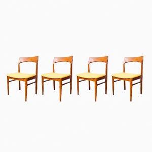 Stühle aus Teak von Henning Kjaernulf für Vejle Møbelfabrik, 1960er, 4er Set