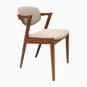 Chaise en Teck par Kai Kristiansen pour Schou Andersen Møbelfabrik, 1960s