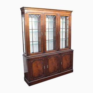 Mid-Century Mahogany 3 Door Bookcase