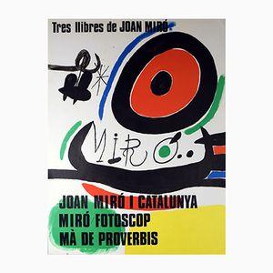 Vintage Ausstellungsplakat von Joan Miró