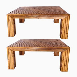 Tische aus Bambus von Ferdinando Loffredo, 1970er, 2er Set