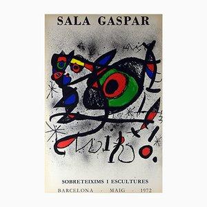 Ausstellungsplakat von Joan Miró für Sala Gaspar, 1972