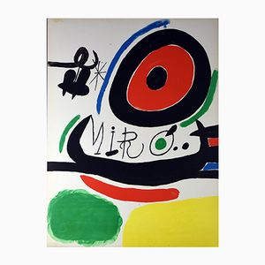 Lithograph by Joan Miró for Sala Gaspar, 1970s