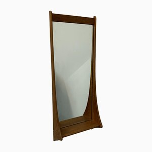 Danish Wall Mirror with Shelf from Pedersen & Hansen, 1970s