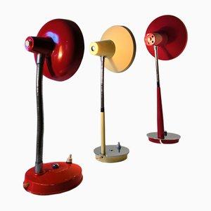 Lámparas de escritorio vintage, años 60. Juego de 3