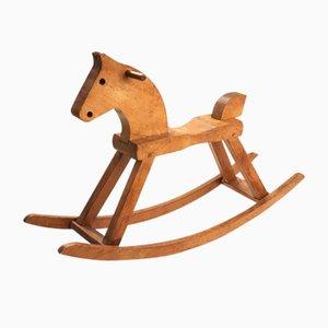 Cavallo a dondolo vintage in faggio di Kay Bojesen, anni '60