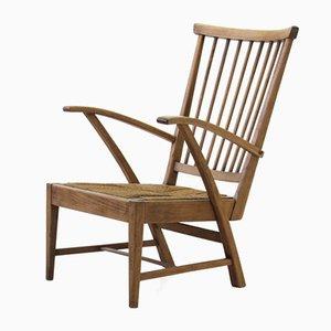 Niederländischer Mid-Century Armlehnstuhl aus Holz