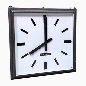 Grande Horloge Double Face de Gare ou d'Usine Vintage