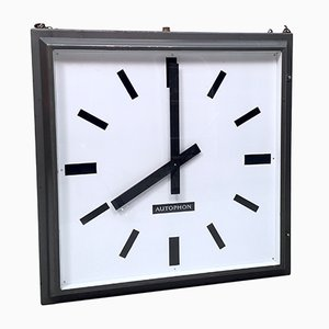 Large Vintage Double Sided Station or Factory Clock