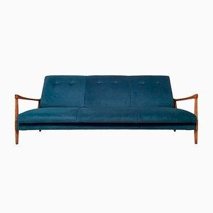 Sofá cama vintage de terciopelo de Greaves & Thomas