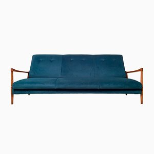 Vintage Velvet Sofa Bed from Greaves & Thomas