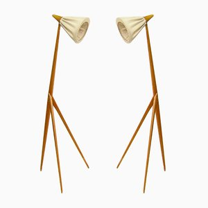 Giraffe Floor Lamps by Uno Kristiansson for Luxus, 1950s, Set of 2
