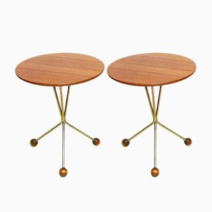 Atomic Side Tables by Albert Larsson for Alberts Tibro, 1950s, Set of 2