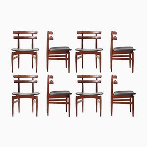 Mid-Century Modell 30 Stühle von Poul Hundevad, 8er Set