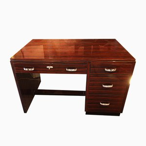 Art Deco Desk in Ebony Macassar