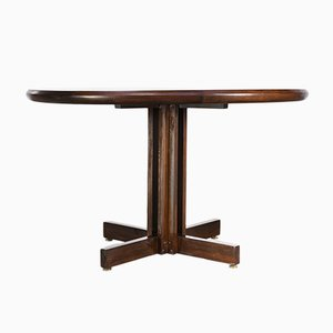 Round Rosewood Dining Table, 1980s