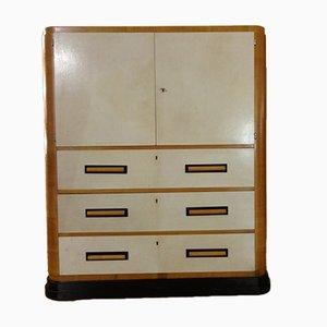 Vintage Italian Parchment Cabinet