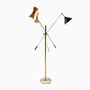 Lámpara de pie vintage, años 60
