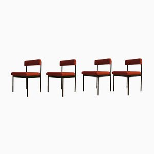 Chaises de Salon Rouges par Dieter Wäckerlin pour Idealheim, 1960s, Set de 4