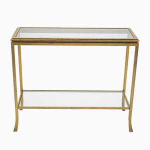 Golden Wrought Iron Console by Robert Thibier, 1960s