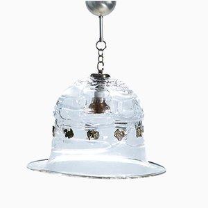 Lámpara colgante en forma de campana de cristal de Murano de Barovier & Toso, años 50
