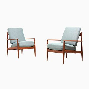 Model 118 Chair by Grete Jalk for France and Son, 1950s, Set of 2