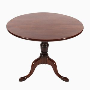 Round Antique Mahogany Dining Table