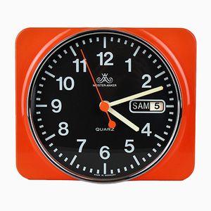 Horloge Murale avec Indication de la Date de Meister Anker, Allemagne, 1970s
