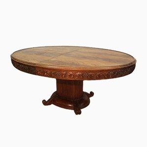 Ovaler Art Deco Tisch von Gauthier Poinsignon, 1920er