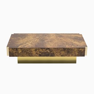 Lacquered Brass Coffee Table from Maison Jansen, 1970s