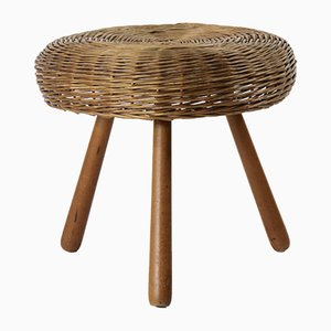 Mid-Century Wicker Stool by Tony Paul, 1950s