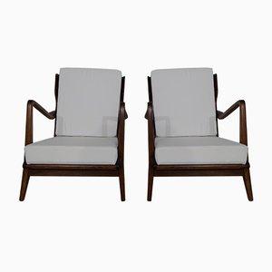 Vintage 516 Armlehnstühle von Gio Ponti, 2er Set